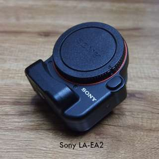 Sony A-mount lens to E-mount camera adapter, Sony LA-EA2