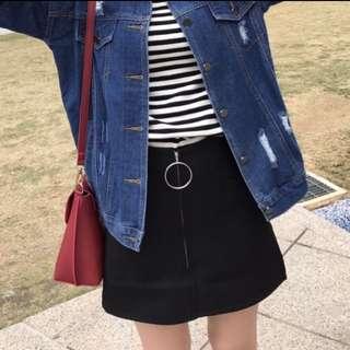 圓環高腰裙