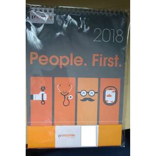 NTUC Income 2018 Desktop Calendar [Brand new with packaging]