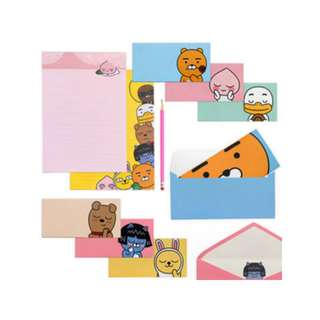 preorder: kakao friends letter writing set