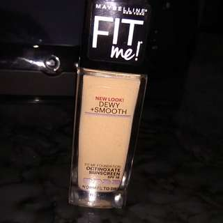 MAYBELLINE - Fit Me Foundation // Dewy + Smooth // Shade: Medium Buff 225