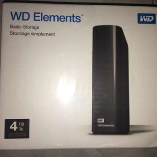 WD element 4TB external hard drive