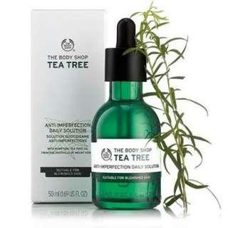 Bodyshop tea tree oil..