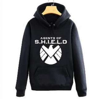 Hoodie Agents of Shield Avengers Logo Hitam PROMO!!!