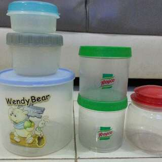 Toples & container (6pcs)