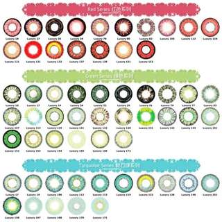 👁 LUXURY BABE CONTACT LENS RED GREEN TURQUOISE SERIES