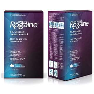 Women's Rogaine Treatment for Hair Loss and Hair Thinning Once-A-Day Minoxidil Foam | Four Month Supply