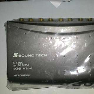 Sound Tech S-Video AV Selector Model AVS-205