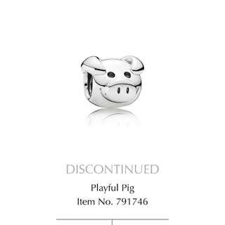 Pandora Playful Pig Charm