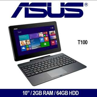 Asus T100 Laptop / Intel Atom Z3740 2 GB Ram 64 GB HDD