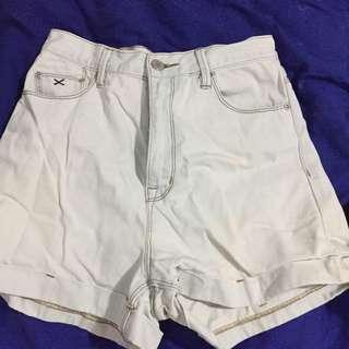 RES Denim High Waist Shorts