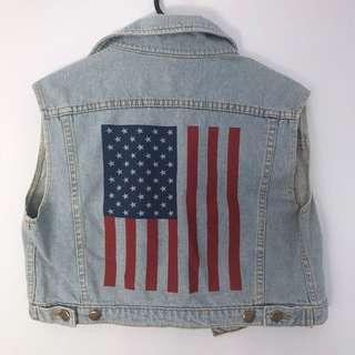 American apparel denim vest