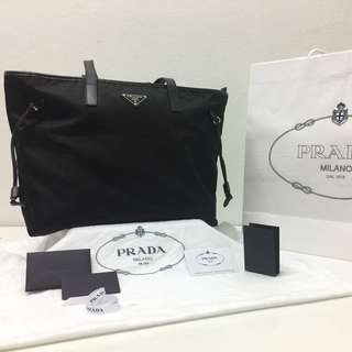 Preloved: Prada Tessuto Saffiano Tote Bag