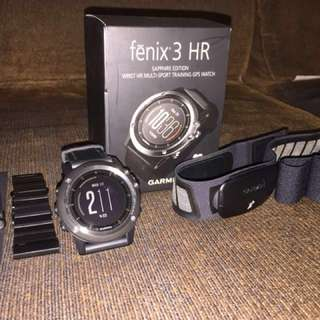 WTS: Garmin Fenix 3 HR Sapphire Edition with HRM-Run