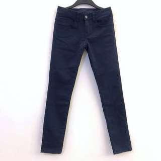 🚚 深藍色 彈性 長褲