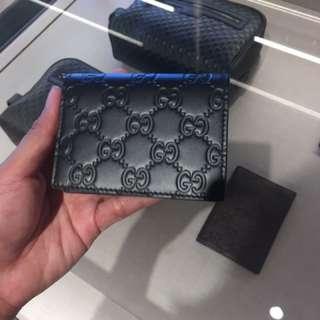 Gucci GG暗花男裝卡片套 card holder 卡包