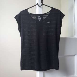 Nike see though black top