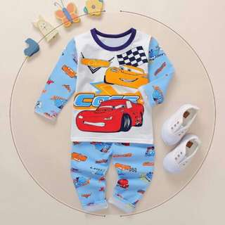 Cars Pajama 1-12 years old