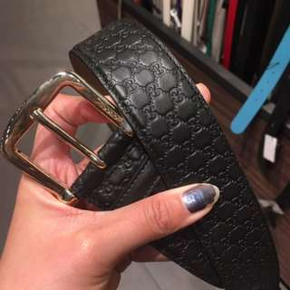 Gucci 女裝皮袋 GG皮帶 belt