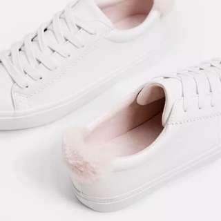 BERSHKA Fur Sneakers