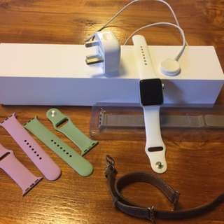 Apple Watch series 2 with original box and 4 additional watch bands. It's a 38 in size and hardly ever worn.
