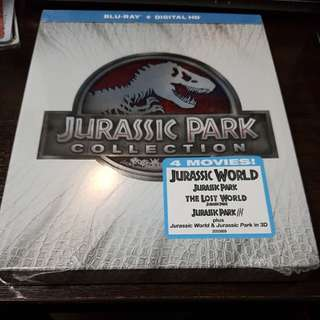 Jurassic Park Collection Bluray Boxset 6 discs 3D and 2D