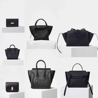Celine wallet box belt luggage trio trifold bag