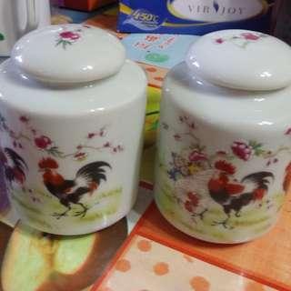 八十年代手繪茶葉罐