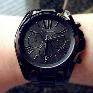 MK Watch Authentic Overruns All Black for Men and Women