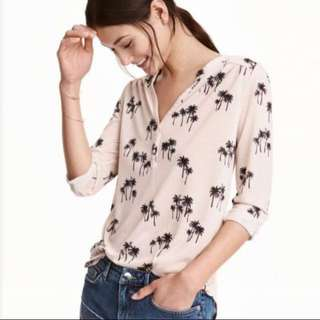 blouse palm by h&m