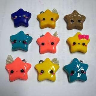 Polymer clay star charm