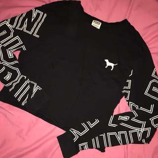 VS PINK cropped long sleeve