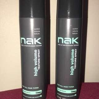 NAK texture spray
