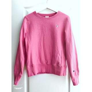 Champion Pink Small Logo Pullover