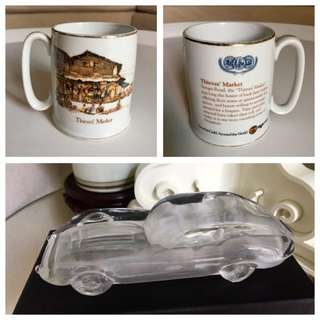 Vintage Glass Car & Tiger Ltd Mug