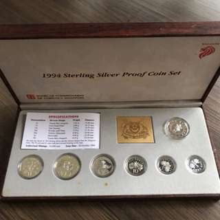 Singapore 1994 Proof Silver Coin Set