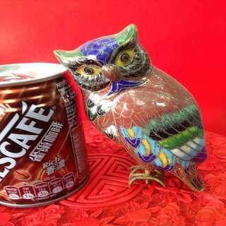 景泰藍貓頭鷹舊物