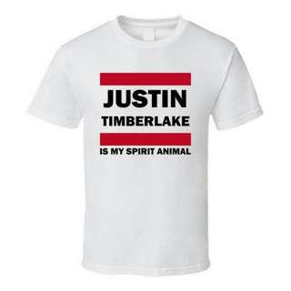 Justin Timberlake Spirit Animal Design T-Shirt Custom Tee