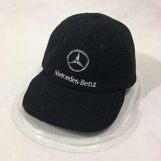 Vtg Mercedes Benz Suede Hats