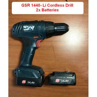 Bosch GSR 1440-LI Drill with 2 batteries and charger