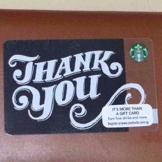 Starbucks Limited Edition Thank You Card