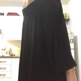 Aritzia Talula Black Off-Shoulder Dress SMALL