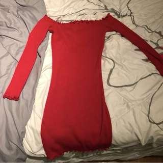 PRICE DROP: Mendocino Red Ruffle Tube Dress