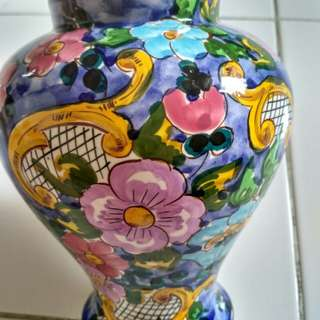 Vas bunga hand print/vas unik/vas cantik