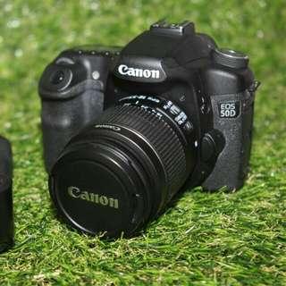 Canon 50D Body + Grip + Kit Lens