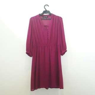 Forever 21 Fuschia Dress