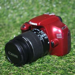 Canon 1100D Red Body + Lens