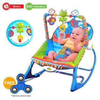 FREE POS Ready Stock Baby Rocker Bouncer Born Toddler Music Chair With Safety Belt