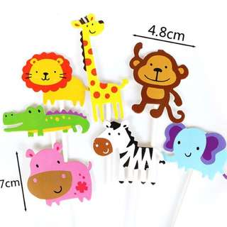 Animals Cake Topper 7pcs Set  ( preorder )
