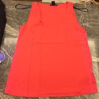 H&M sleeveless orange